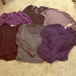 Lot of 6 long and 3/4 sleeve shirts - H&M